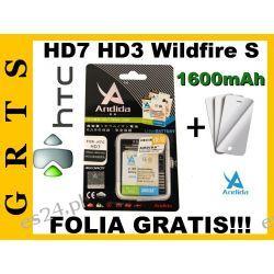BATERIA ANDIDA HTC HD7,HD3,WILDFIRE S1600mAh+FOLIA OCHRONNA GRATIS!