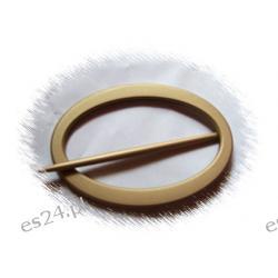 Klamra  owal złoto