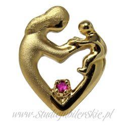 Złota zawieszka w kształcie serca ZA0001MK