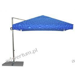 Parasol Ogrodowy Rio 3x3m - Bąbelki Niebieskie Pozostałe