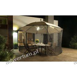 Parasol Ogrodowy Ibiza 3,5m z oświetleniem LED i Moskitierą