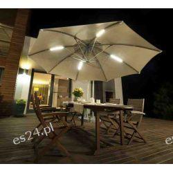 Parasol Ogrodowy Ibiza 3,5m z oświetleniem LED Parasole ogrodowe