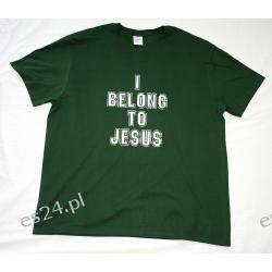 """koszulka """"I belong to Jesus"""" zielona"""