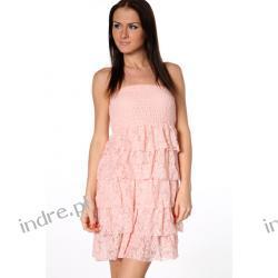 Sliczna koronkowa sukienka z falbanami