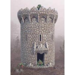 Okrągła wieża Podłoża, tła i ozdoby