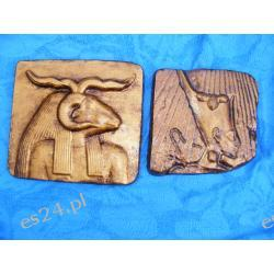 Komplet Egipskich reliefów Chnum i faraon