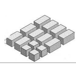 Cegiełki 25X10X10mm i 10X10X10mm -140 szt Figurki