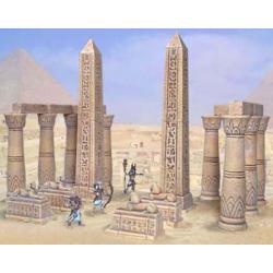 Akcesoria do budowy egipskiej świątyni Rośliny pnące