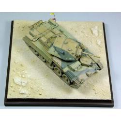 Podstawka,makieta imitująca pustynie El-Alamein Figurki