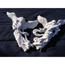 Dwa duże grające anioły Figurki