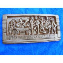 Kamasutra relief indyjski  duży  21 cm x 10 cm Naręczne