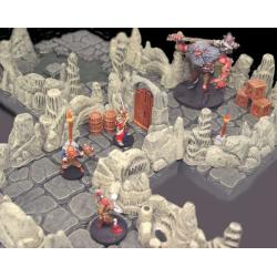 Water Cavern Wall 170 elementów Figurki