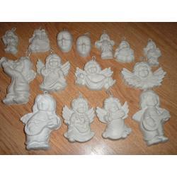 gipsowe maski,aniołki 0,90 gr. za szt.+25 gratis