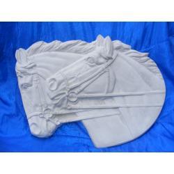 Popiersia koni,konie,płaskorzeżba Prace ręczne