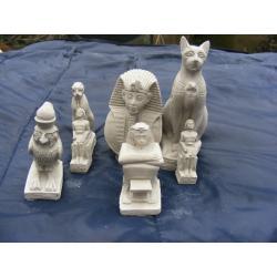 Siedem figurek egipskich Rzeźba