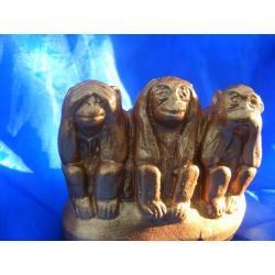 Trzy mądre małpki Figurki i rzeźby
