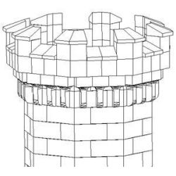 Cegiełki do budowy wieży ośmiokątnej 120+12 Gry