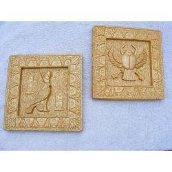 Płaskorzeżby egipskie Ibis i Skarabeusz