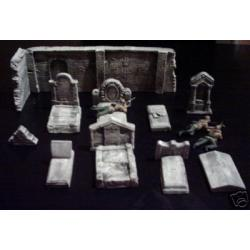 Wyposażenie cmentarne,nagrobki,mur Figurki