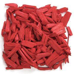 Czerwone,dekoracyjne drewienka Figurki