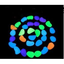 Kamienie świecące ,fluoroscencyjne Architektura ogrodowa