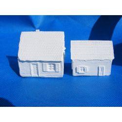 Dwa budynki,domy Figurki