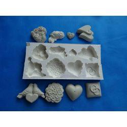 Forma silikonowa -ozdoby weselne. Figurki i rzeźby