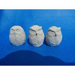 Trzy sowy,sówki Figurki