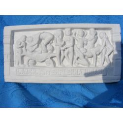 Kamasutra relief indyjski  duży  21 cm x 10 cm Pozostałe