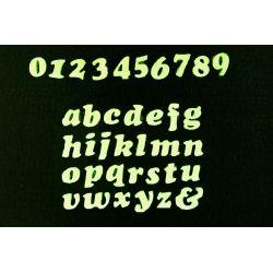 Świecące,fluoroscencyjne  literki i cyferki Artykuły plastyczne