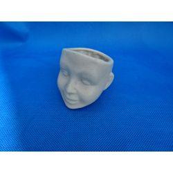Mini doniczka głowa chlopca Przedmioty ręcznie wykonane