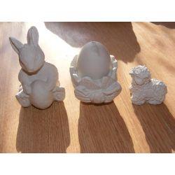 Zajączek,baranek,jajko figurki wielkanocne Ozdoby świąteczne