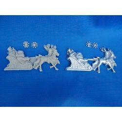 Mikołaj na saniach Ozdoby świąteczne