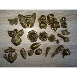 Motyl,bobas,róża,kotwica,klucz Półfabrykaty