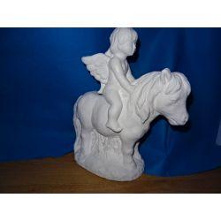 Anioł,aniołek na koniu Figurki i rzeźby