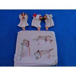 Forma silikonowa -trzy aniołki! Ozdoby świąteczne