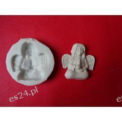Forma silikonowa aniołek ze świeczką Przedmioty ręcznie wykonane