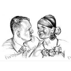 Portret czarno-biały, 2 osoby