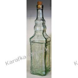 Butelka ozdobna kwadratowa 750ml z korkiem