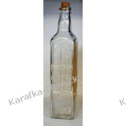 Butelka ozdobna kwadratowa 500ml z korkiem