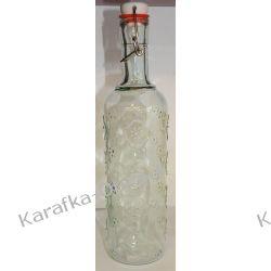 Butelka ozdobna KWIATKI  1100ml z korkiem mechanicznym