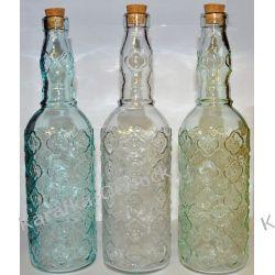 Butelka ozdobna KWIATKI  720ml z korkiem
