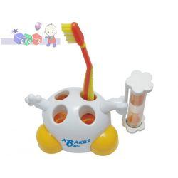 Podstawka do szczoteczki do zębów z klepsydrą, która mierzy czas mycia zębów Abakus...