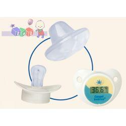 Bezstresowe mierzenie tempreratury dziecka silikonowy smoczek z termometrem Canpol...