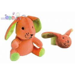 Zabawka pluszowa z pozytywką Canpol - królik + grzechotka na rączkę...