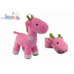 Pluszowa zabawka z pozytywką Canpol żyrafa z grzechotką na rękę...