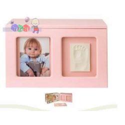 Pudełko Wspomnień odcisk rączki nóżki Baby Memory Prints różowe...