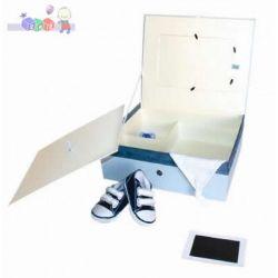 Pudełko Wspomnień odcisk raczki nóżki Baby Memory Prints niebieskie...