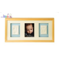 Ramka Baby Memory Prints na zdjęcie i odcisk rączki i stópki - naturalny...