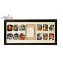Ramki na 12 zdjęć Mój Pierwszy Roczek Baby Memory Prints - mahoń...